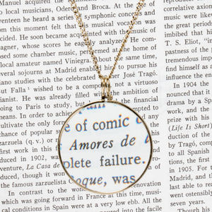 Brass Magnifying Glass Necklace